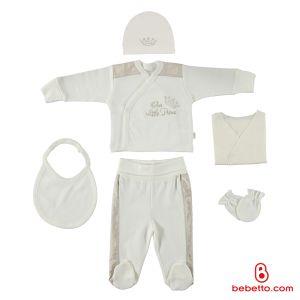 Bebettp - COTTON BABY NEWBORN SET 6 PCS (Prens)