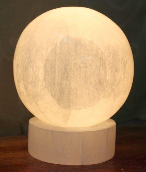 Selenite Sphere Lamp