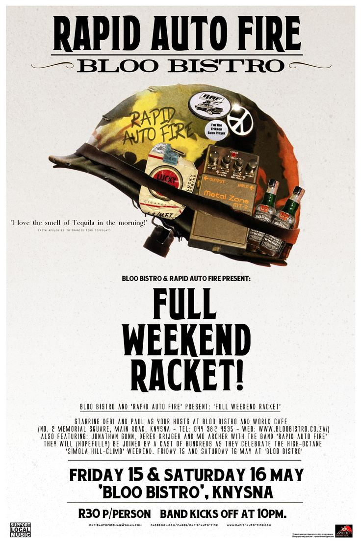 A gig-poster playfully parodying that of Stanley Kubrick's harrowing Vietnam War film 'Full Metal Jacket'.