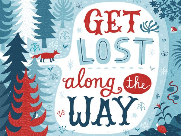 Get lost along the way by Linzie Hunter, via Behance