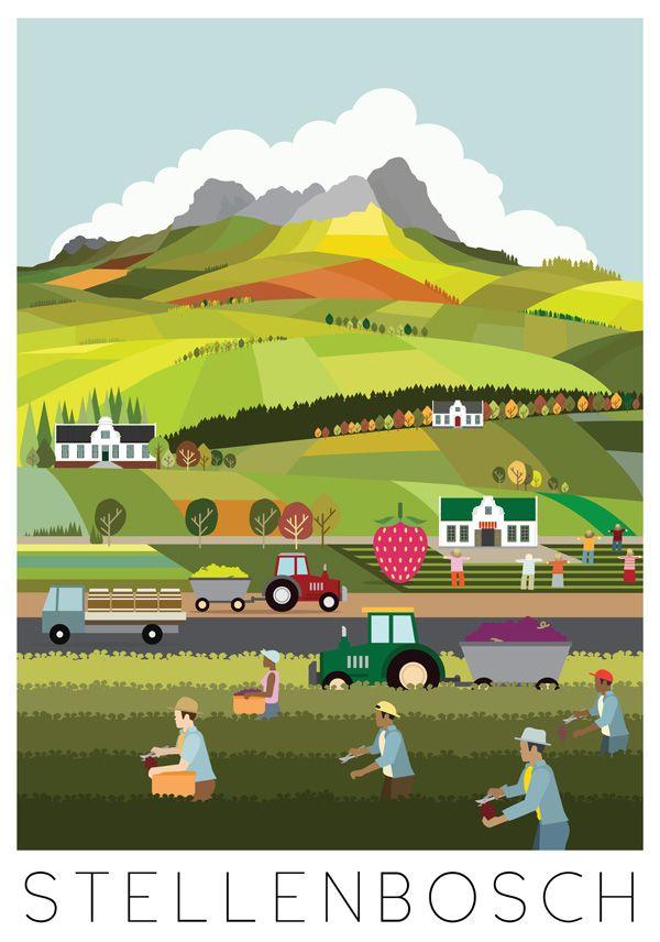 Lovely posters of Stellenbosch   City of Oaks | Fanakalo