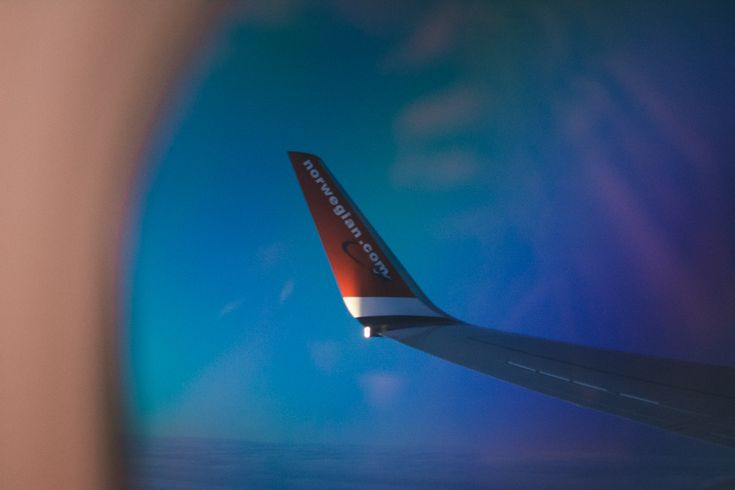 Norwegian Air flight out of Iceland