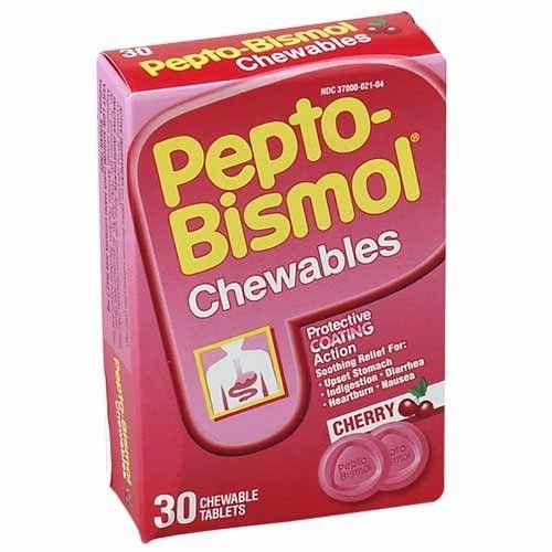 Pepto-Bismol Tablets (30 Packs per Box)