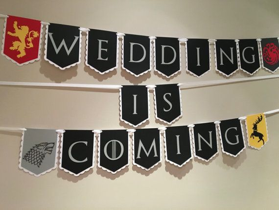 Game of Thrones Wedding Banner (Free Shipping)