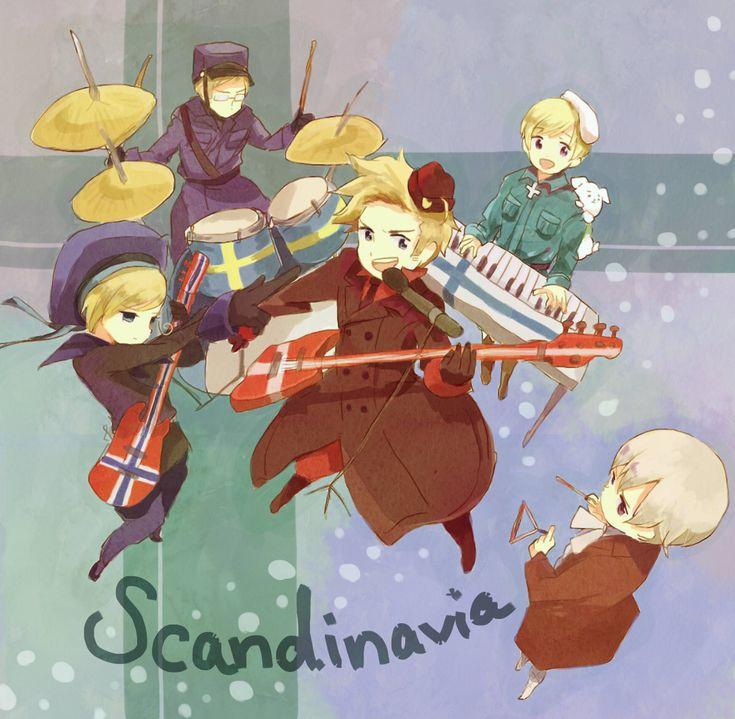 Pixiv Id 3808040, Axis Powers: Hetalia, Norway, Finland, Sweden, Hanatamago