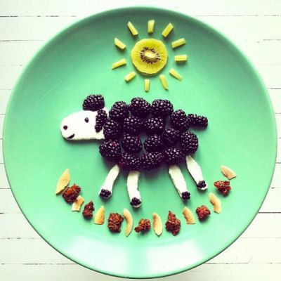 Sheep and sun   Food Art http://myhoneysplace.com/food-art-pictures/#