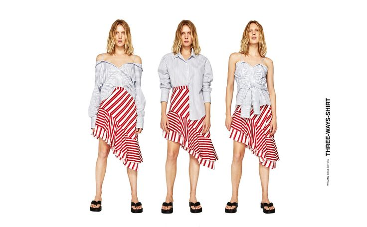 MULTIPOSITION STRIPED SHIRT
