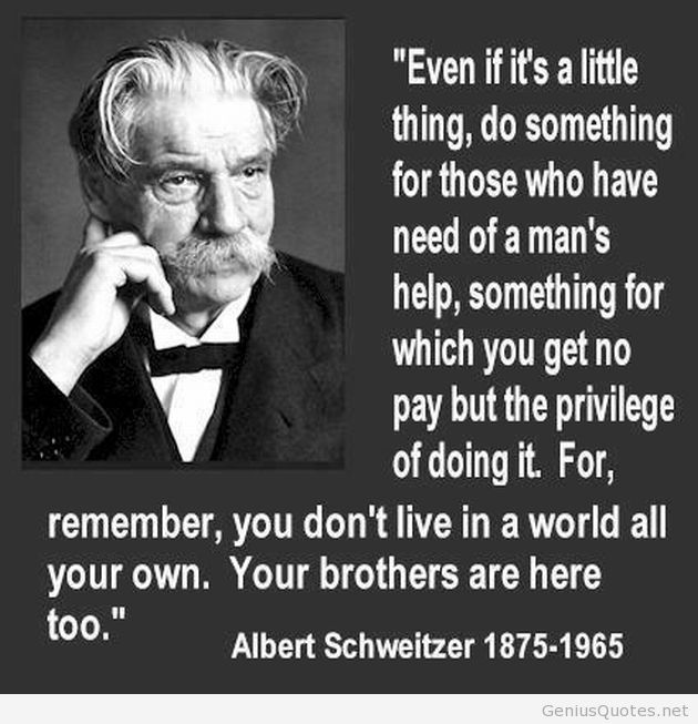 albert schweitzer essay Albert schweitzer once said, i don't know what your destiny will be, but one thing i do know the only ones among you who will be truly happy are those who have sought and found how to serve12 schweitzer was a true citizen of the world.