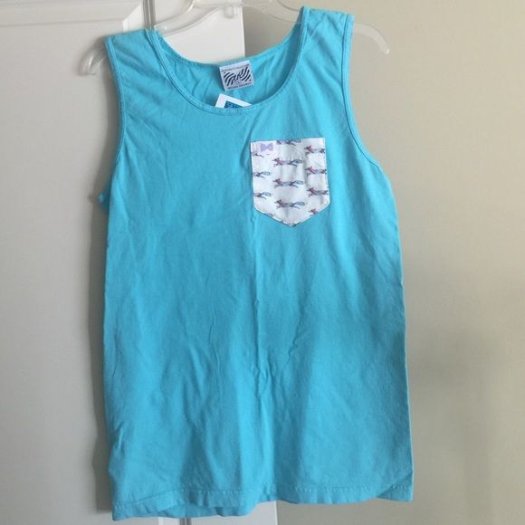 Fraternity Collection Plaid Fox Pocket Tank Top S NWT Frat Collection Longshanks Blue Fox Shirt. Men's small or Women's medium. Rare design. Fraternity Collection Tops Tank Tops