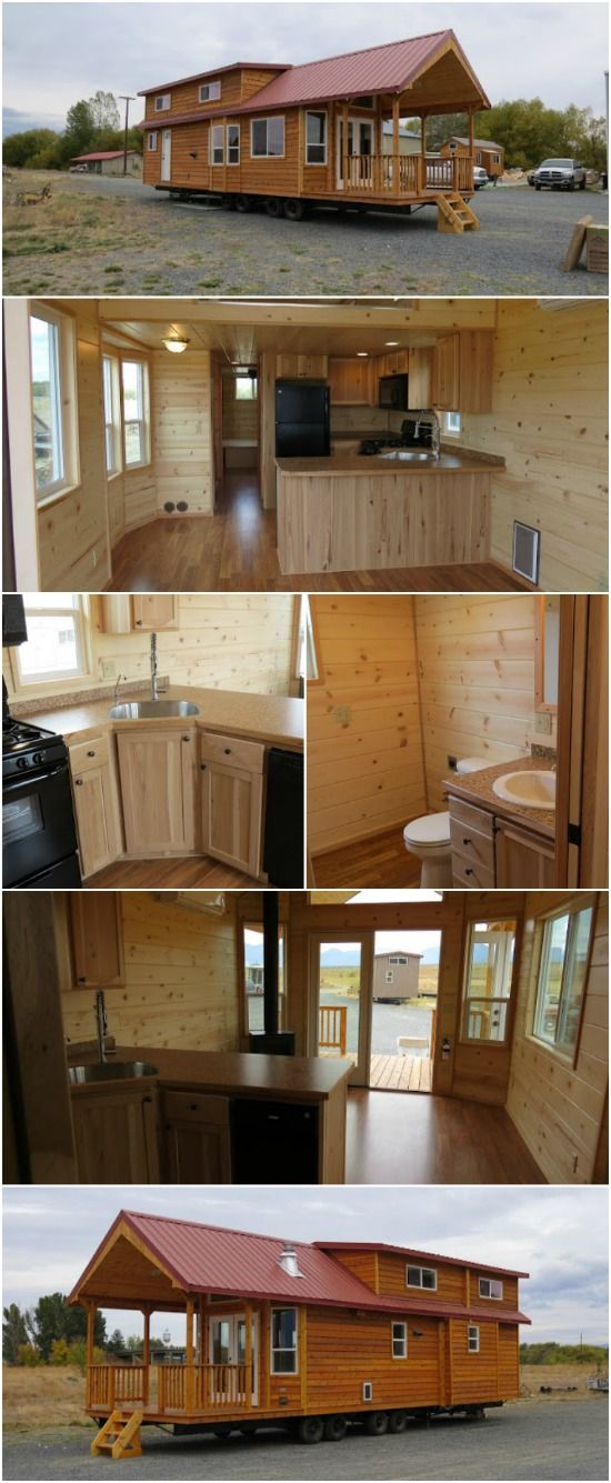 Spread Out in the Double Lofted Tiny House by Rich's Portable Cabins - We all know that sometimes tiny houses can get a bit cramped so we love it when we find a home that gives you room to spread out in! This classic double lofted model from Rich's Portable Cabins is a two-bedroom home with a huge 10 foot covered porch. This may be the perfect getaway for a large family!