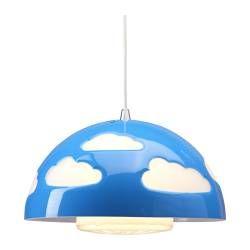 SKOJIG Lampada a sospensione - blu - IKEA