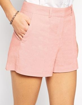 Enlarge ASOS Linen Shorts with Pintuck