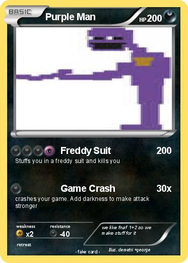 five nights at freddy's pokemon cards | Language Card : english