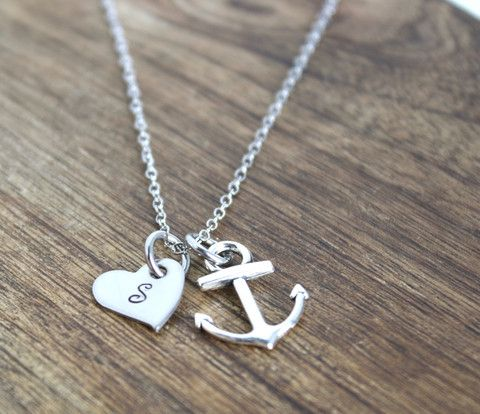 Anchor Necklace www.sierrametaldesign.com                                                                                                                                                                                 More