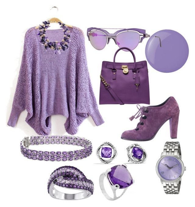 Purple People Eater by lady-stephanies on Polyvore featuring polyvore, fashion, style, Roger Vivier, Michael Kors, Blue Nile, 88 RUE DU RHONE, David Yurman and Essie