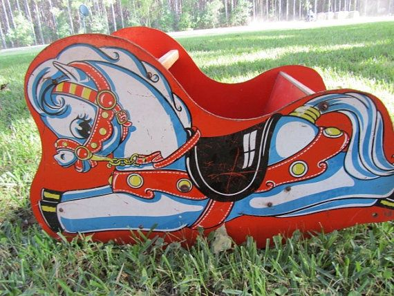 Vintage Rocking Horse Child S Seat Chair Riding Toy