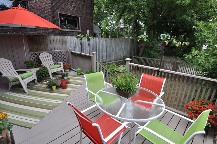 May Update featuring an article from Renelle Design on exterior set-up.