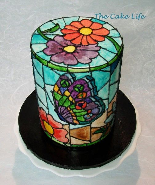 Recipe For Cake Decorating Gel : 130 best stained glass cakes images on Pinterest Amazing ...