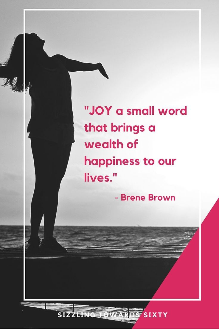 Joy – a small word that provides a wealth of happiness