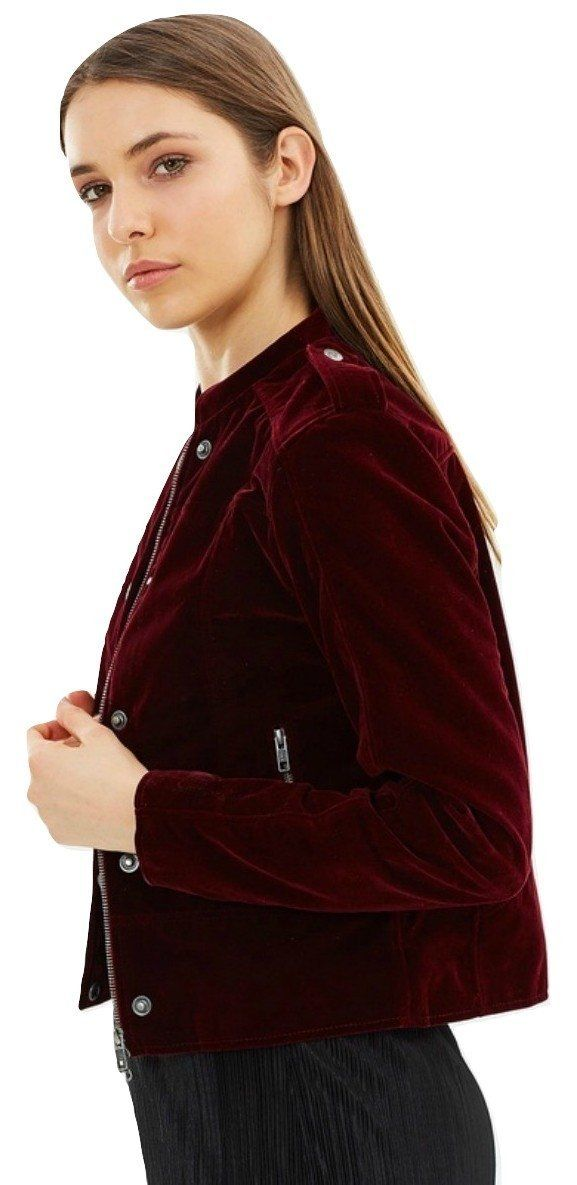 Velvet Moto Jacket 'Ashling' Burgundy and a Happy New Year! 🎇