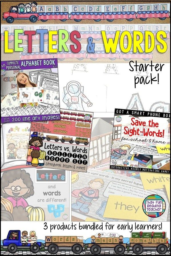Teach early learners the difference between letters and words with a storybook lesson, visuals and sorting activities; provide engaging to build their knowledge of letter sounds and sight word vocabulary that they will enjoy as part of their routine with this 3 pack! $ #teaching #tpt #teacherspayteachers #earlyliteracy #kindergarten