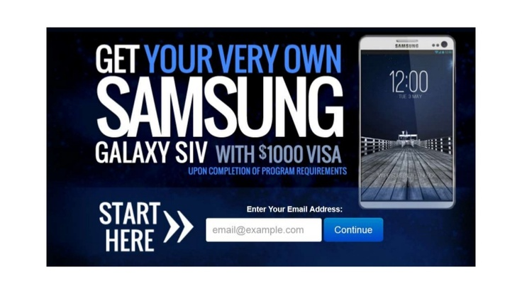 get-a-free-samsung-galaxy-s4 by mario365 via Slideshare