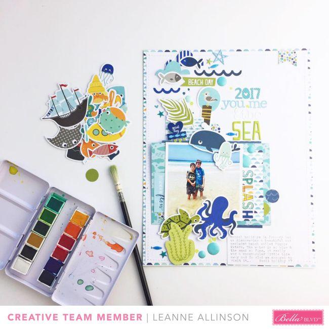 Bella Blvd | Secrets of the Sea | Layout by Leanne Allinson