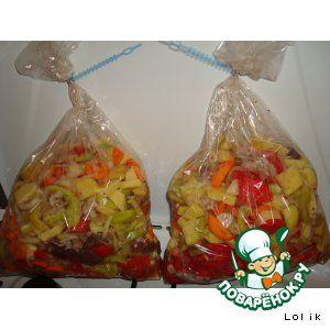 Овощное рагу в рукаве