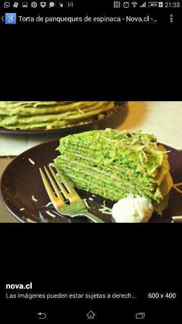 Torta panqueques c espinaca