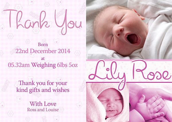 43 best PAPER Birth Announcement images – Birth Announcements Uk
