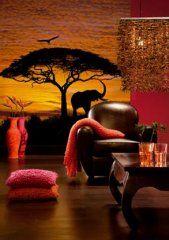 #Fotobehang African Sunset voor een gevoel alsof je op de savanne bent tijdens een zonsondergang