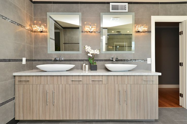 Sink and closet view of Master Bath One. Sean@Linearcompanies.com