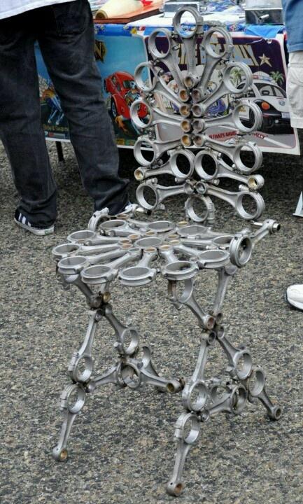 Piston rod chair