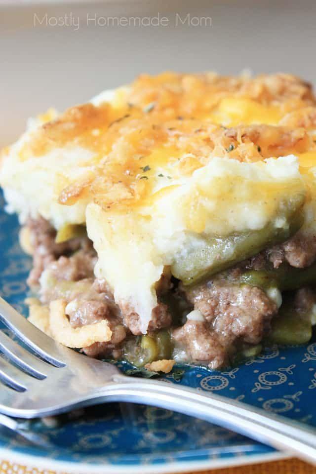 Green Bean Casserole Shepherd S Pie Recipe With Images Greenbean Casserole Recipe Shepherds Pie Recipe Green Bean Casserole