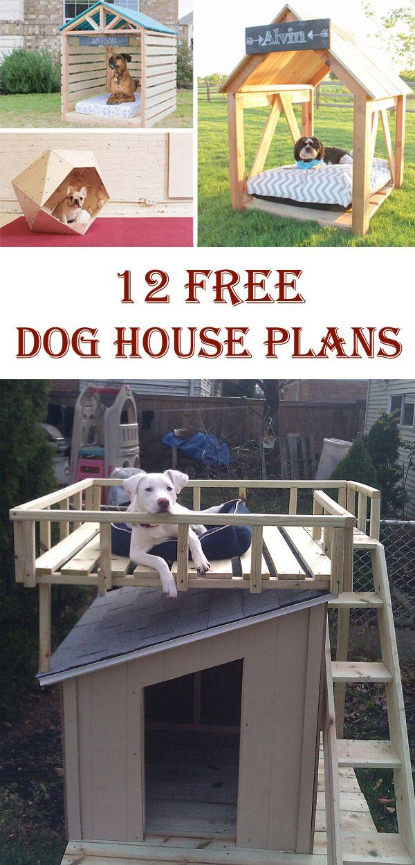 12 Free DIY Dog House Plans & Ideas