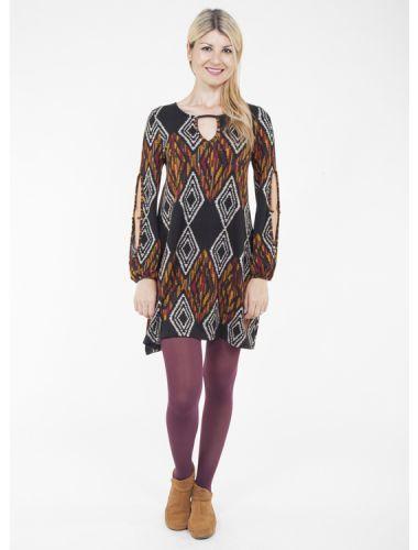 Robe Papillon dress tribal pattern motif