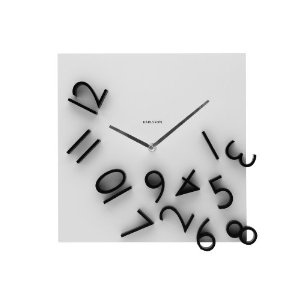 Karlsson Wall Clock Falling Numbers: Karlsson Wall, White Home, Black White, Wall Clocks, Home Kitchens, Clocks Fall, Numbers Clocks, Kitchens Clocks, Fall Numbers