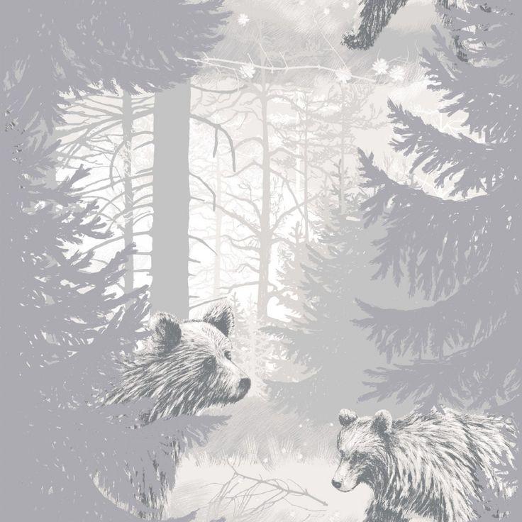 <p>Karhunkierros-tapetin on suunnitellut Metleena Issakainen.Karhunkierros-tapetissa tallustelee karhu kuusimetsässä. Otso, mesikämmen, kontio: kansanperinteessämme monta nimeä saanut eläin on metsiemme kookas kuningas,