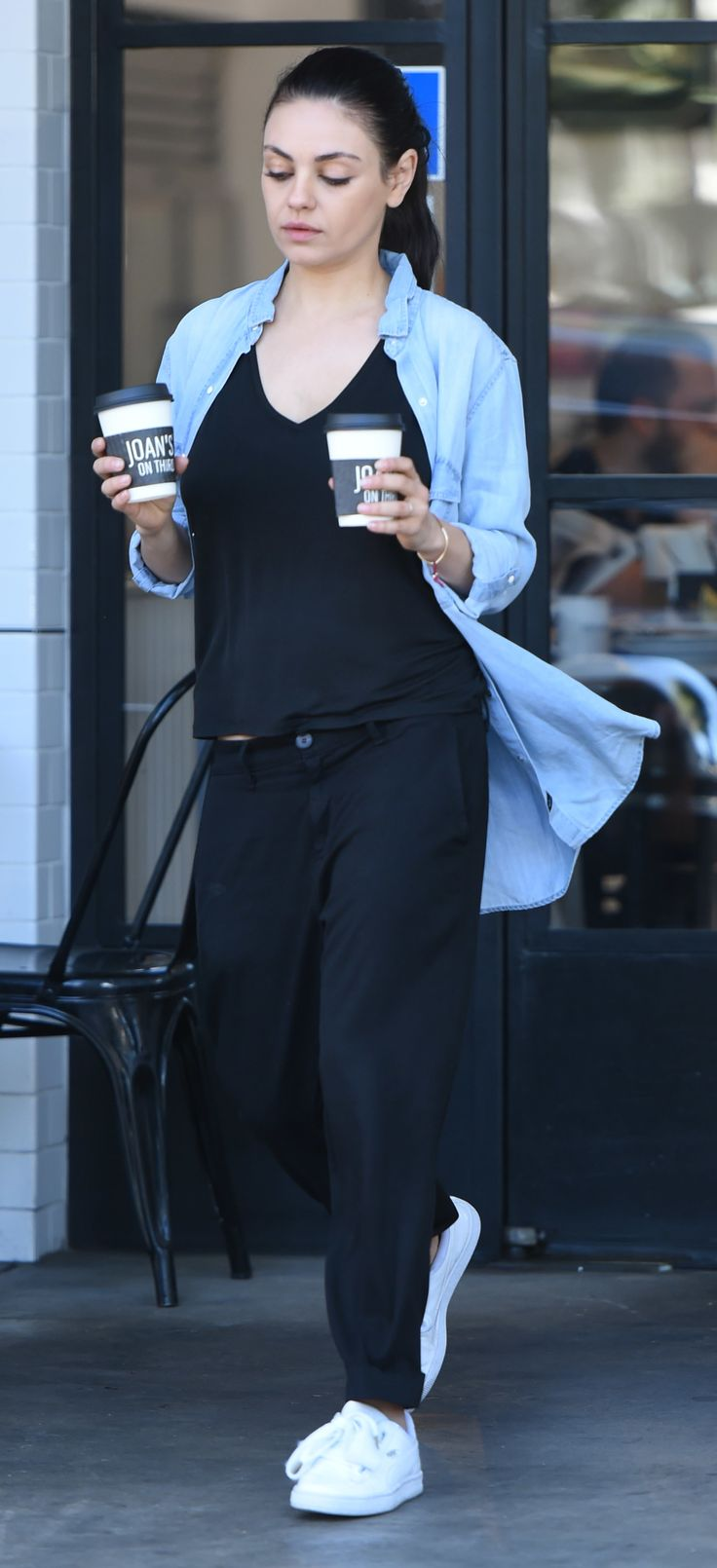 Mila Kunis leaving Starbucks in LA 4/29/17