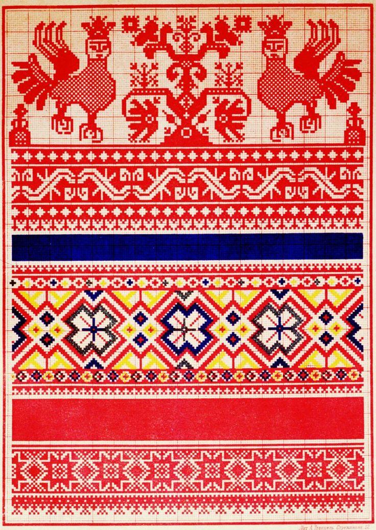 Символы народной вышивки.