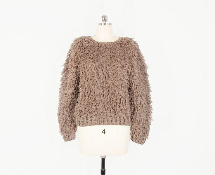 Vintage Wool Cardigan- 70s Fall Colors Unisex M/L TguES1kb