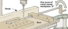 woodworking tip hole drilling jig