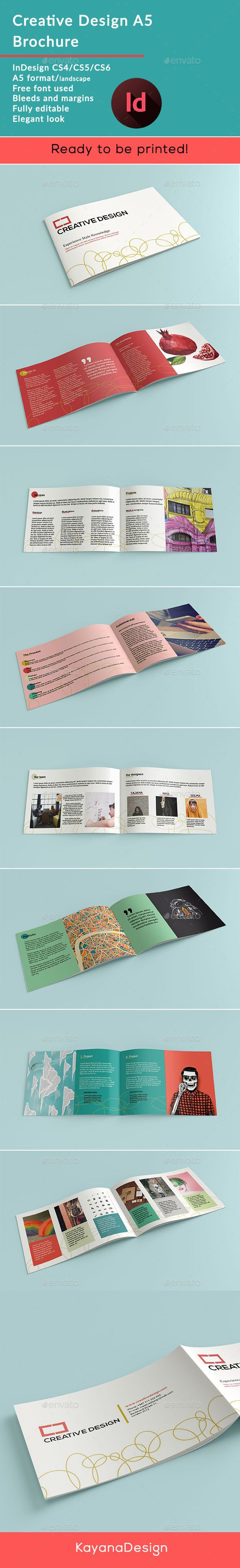 Creative Design A5 Brochure Template InDesign INDD