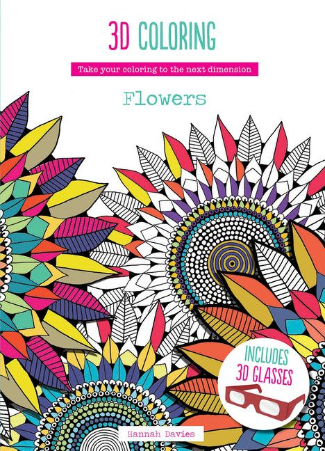 3d colouring flowers
