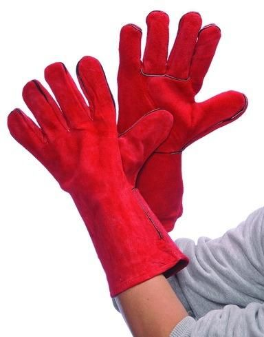 Red Leather Welding Gloves (Case of 36)