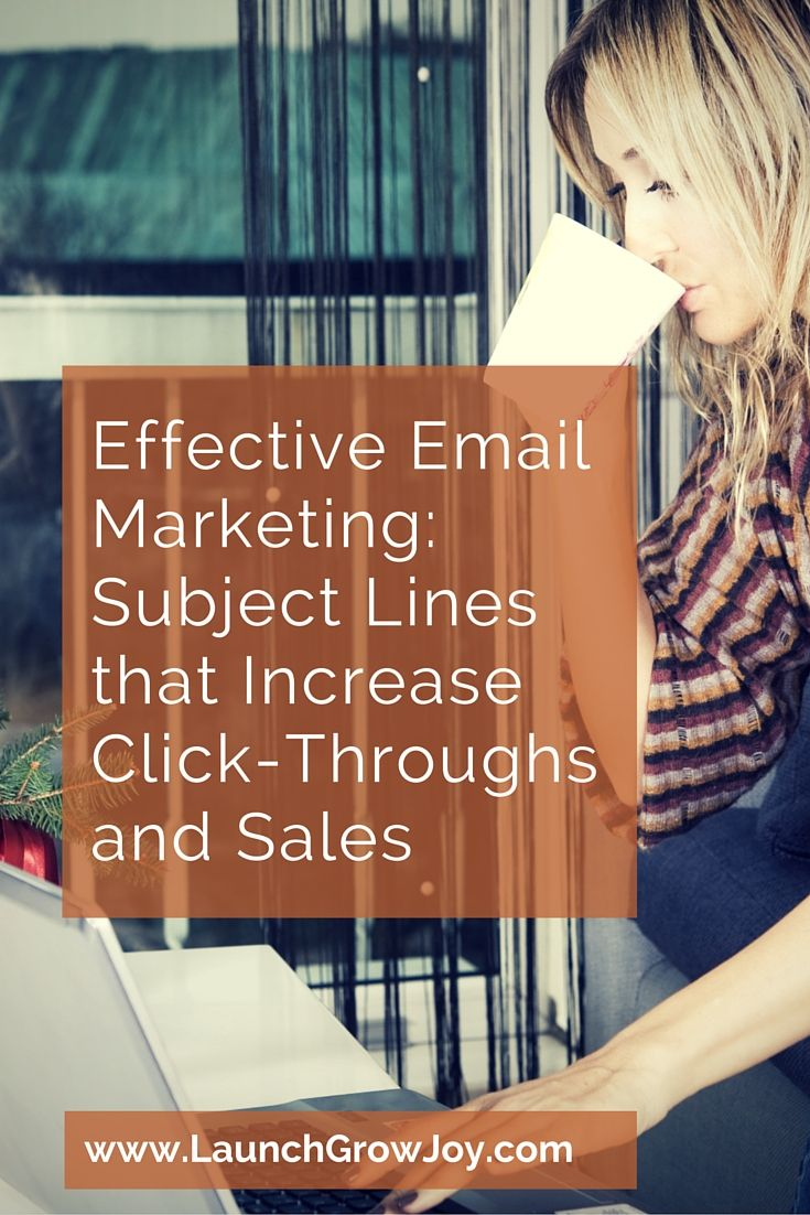Effective Email Marketing: Subject Lines that Increase Click-Throughs and Sales