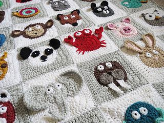 $6.99 Crochet pattern: Zookeeper's Blanket by Justine Walley (ScatteredDahlias) for…