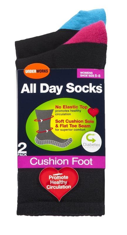 2 pack Men's All day fine socks