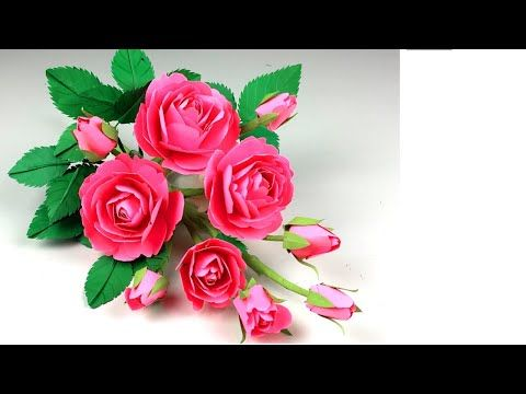 How To Make Beautiful Rose Flower With Paper Making Newdesign