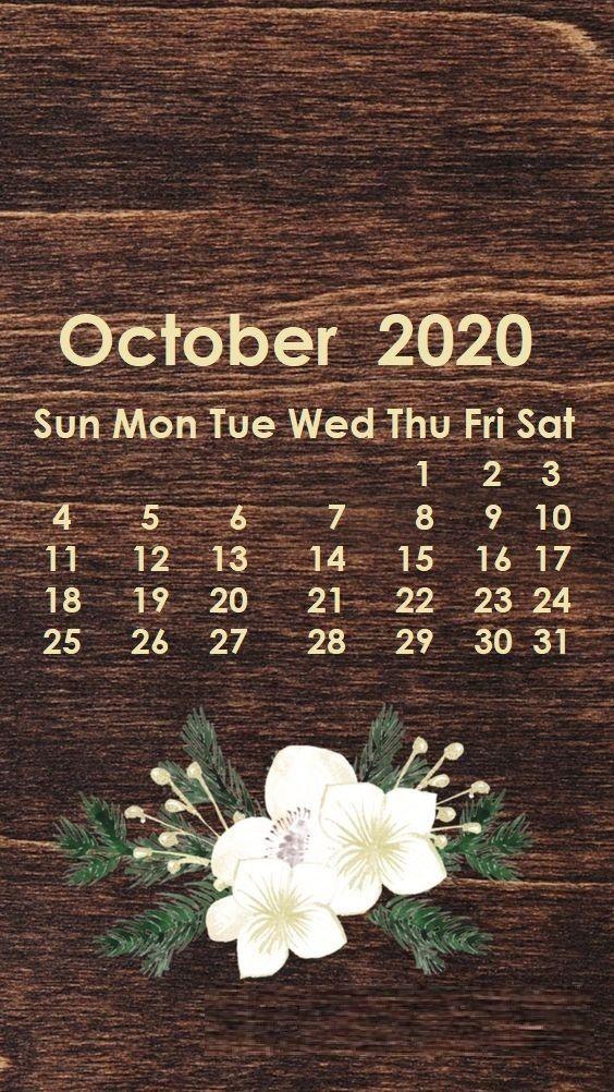 October 2020 iPhone Wallpaper Calendar wallpaper